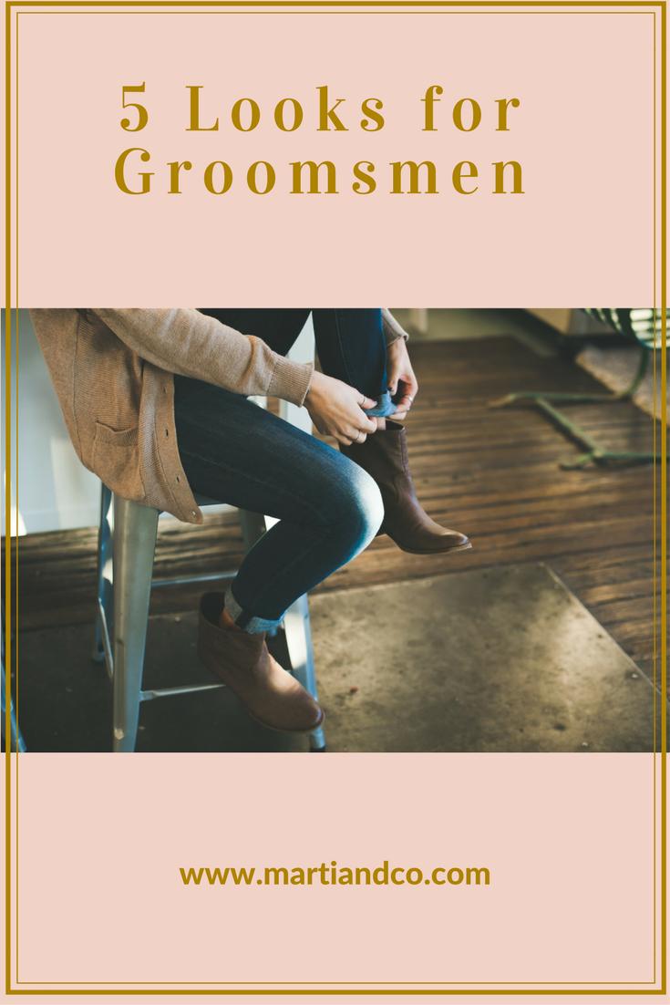5 Looks for Groomsmen