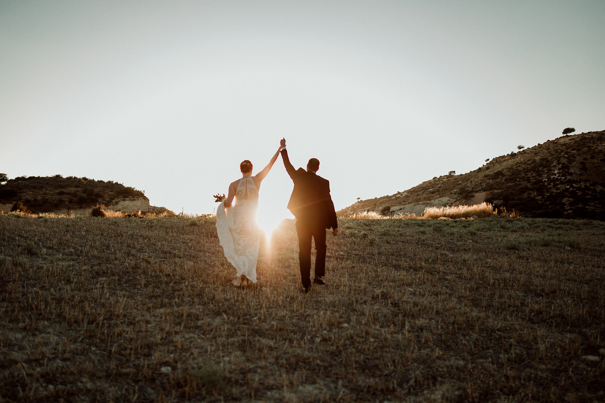 Sunset Wedding Picture Kelli + Charbel