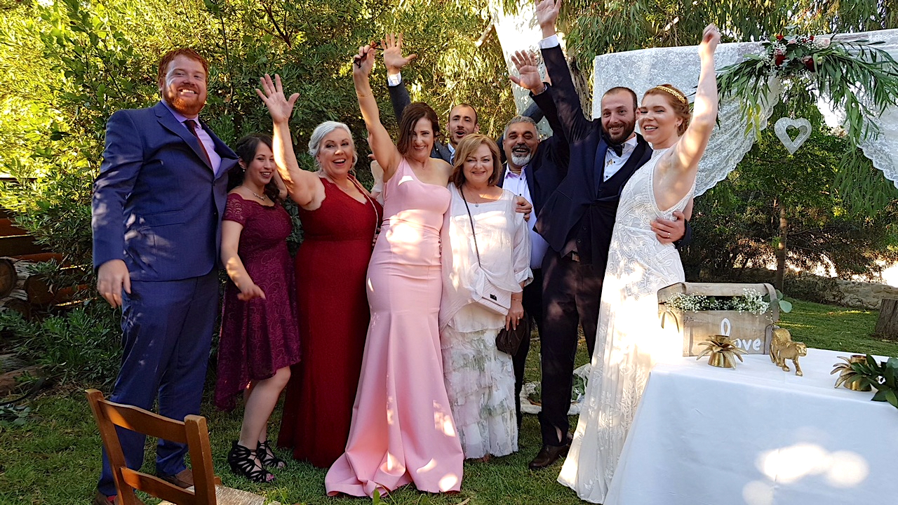 Kelli & Charbel Wedding Family Picture