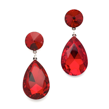mariell fire engine red earrings