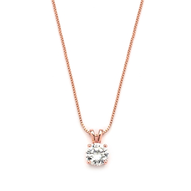 Mariell Rose Gold Necklace