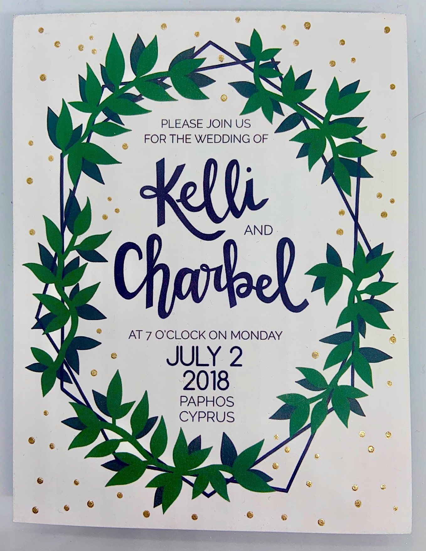 Invitation kelli + charbel