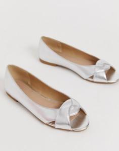 Asos Silver Flats Wedding Guest Wedding Party Dresses Shoes Asos