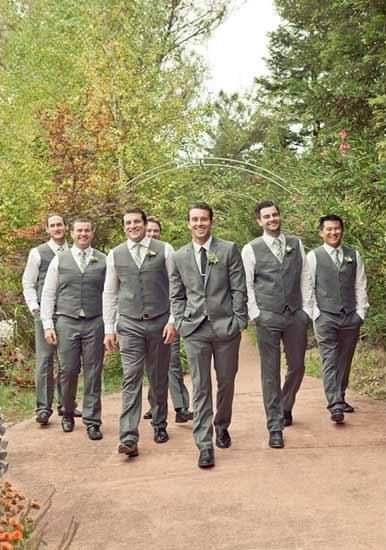 guys in the wedding post - marti & co. mismatched look