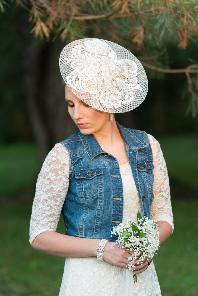 Ashten in bridal hat