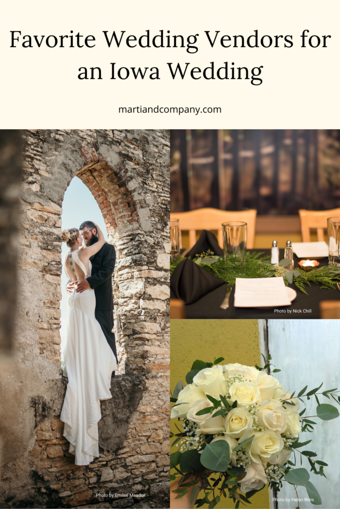 Favorite Wedding Vendors for an Iowa Wedding by Marti & Co.