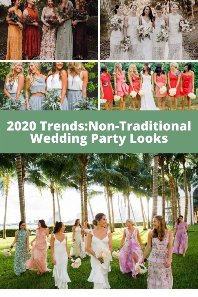 Marti & Company Graphic 2020 Trends: Non-Traditional Wedding Party Looks