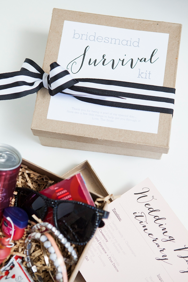 outfitting your bridesmaids survival kit