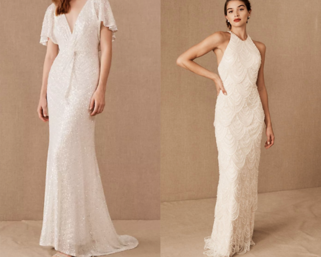 Ready to ship gowns from BHLDN