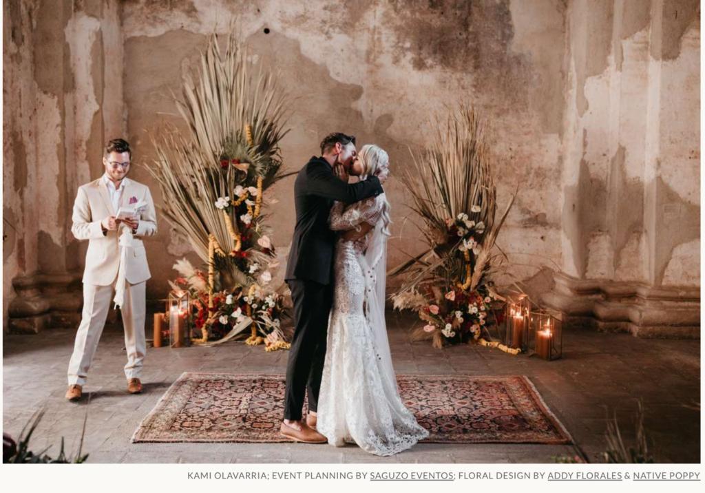 DIY backdrop ceremony decor brides.com