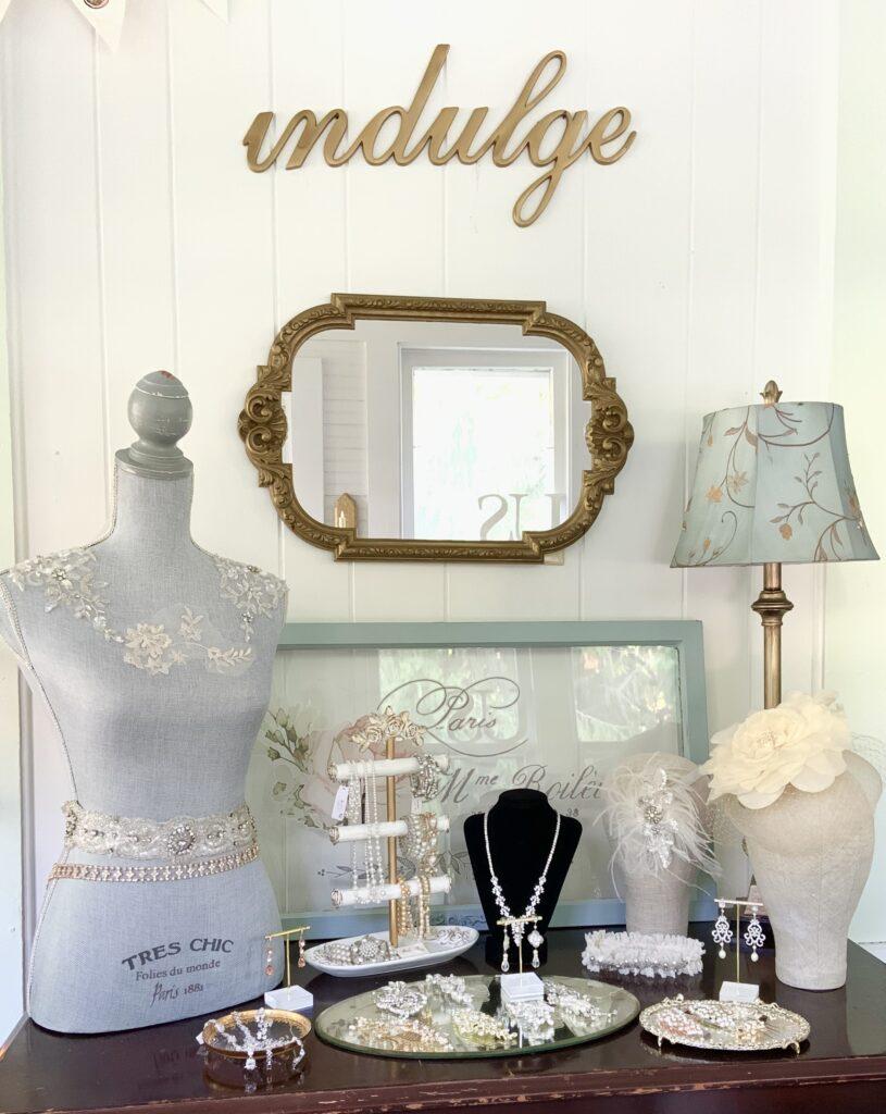 interior of a bridal boutique
