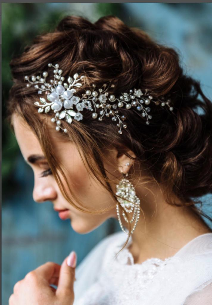 crystal hair vine veil alternative for Brides