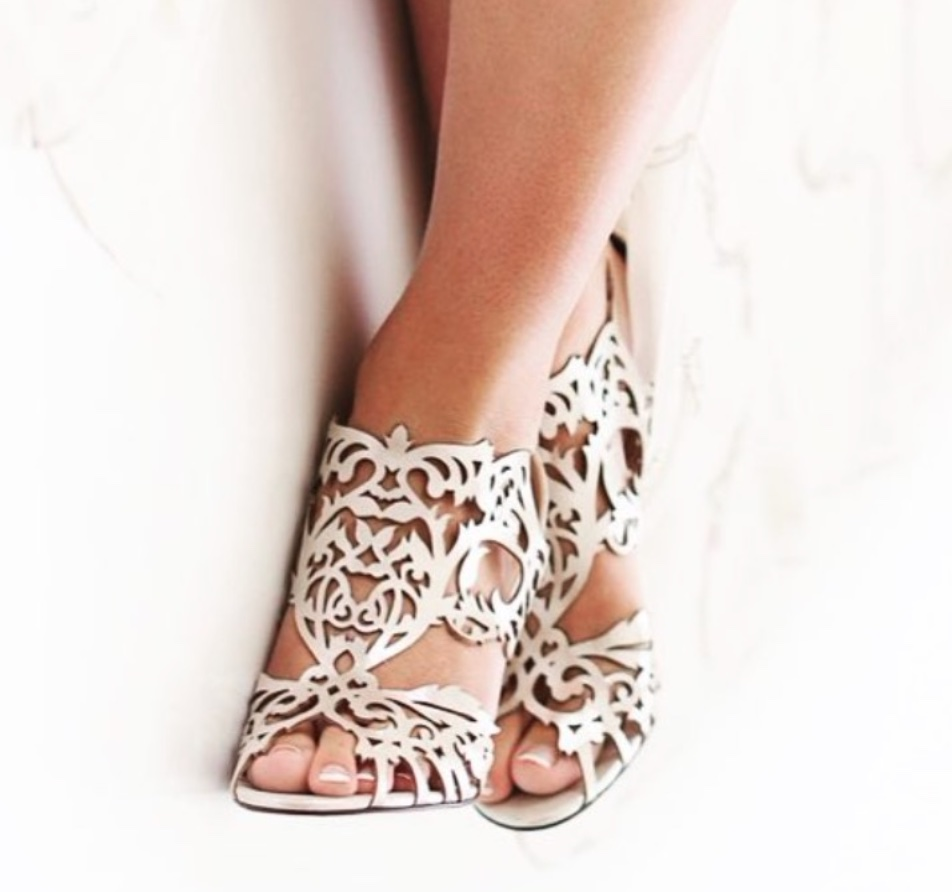 curlicue cutouts sandals