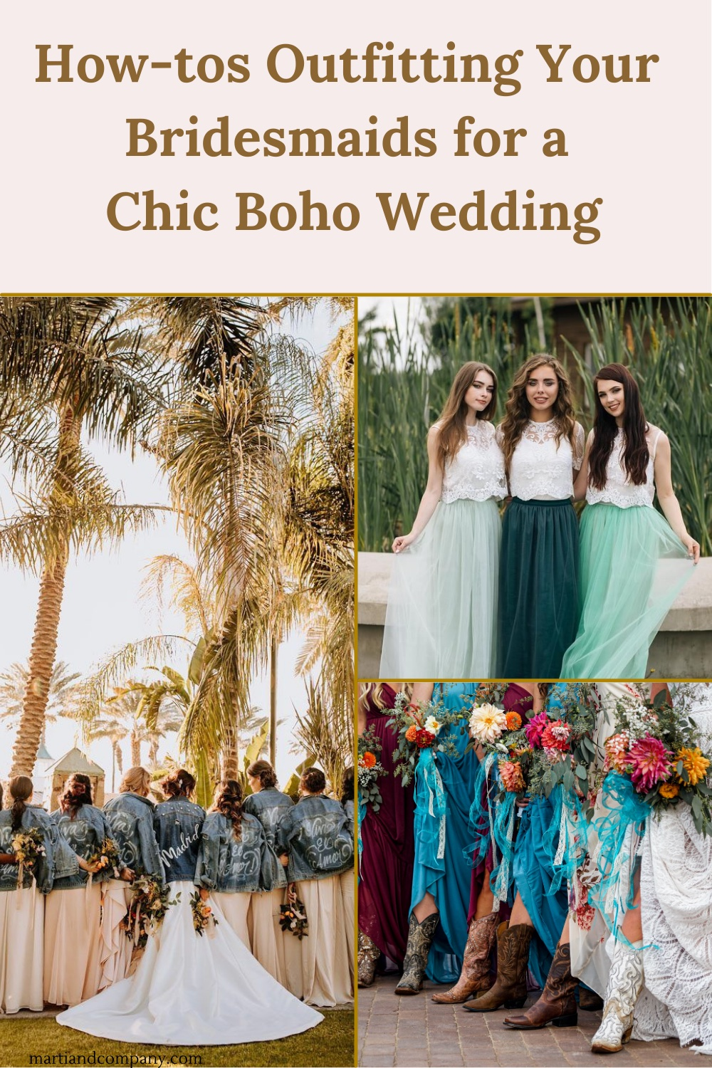 Pinterest graphic of boho bridesmaid outfits
