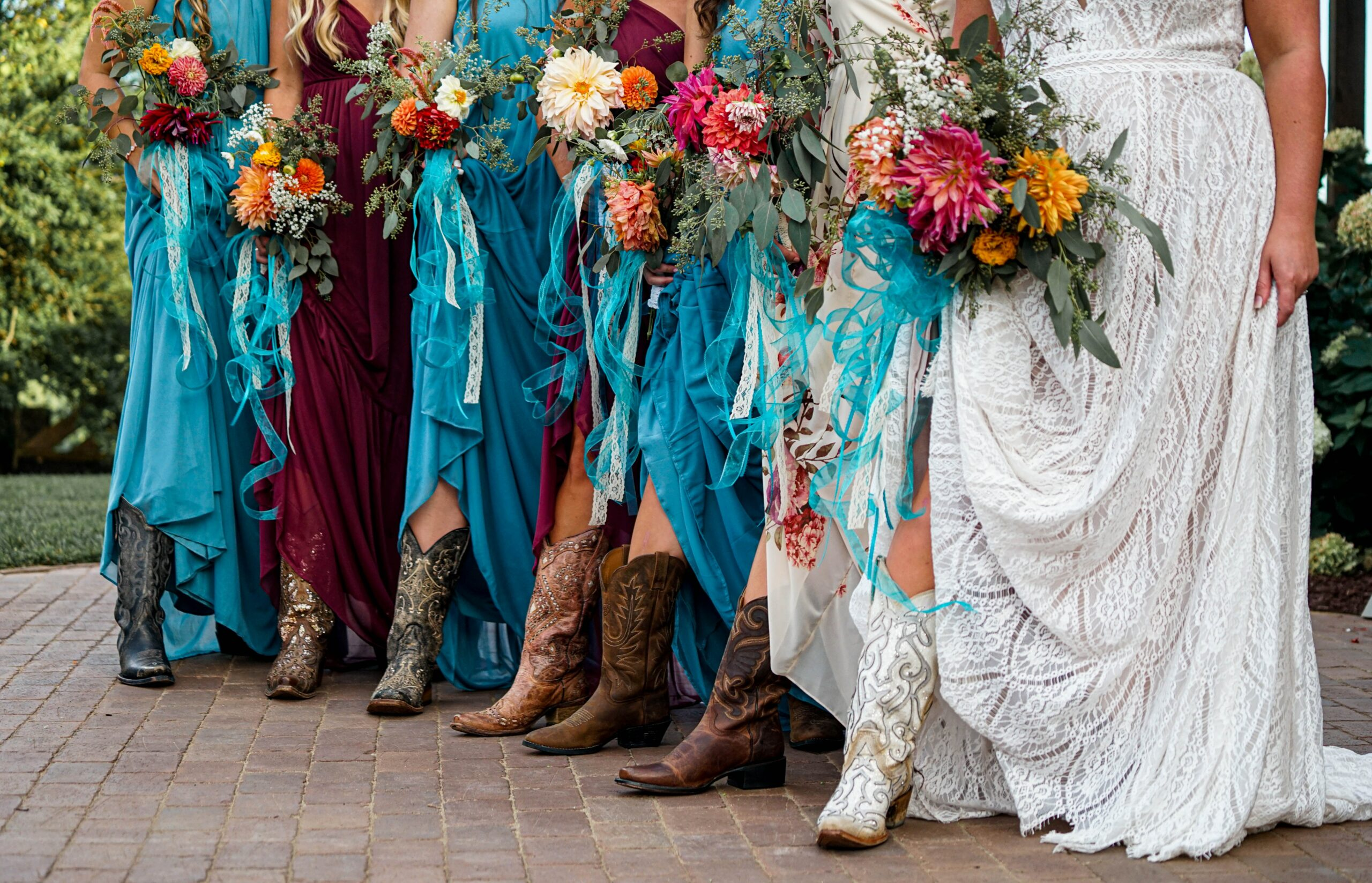 outfitting your bridesmaids in cowboy boots