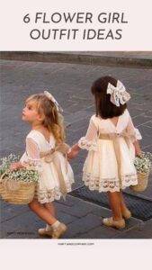 2 flower girl outfits