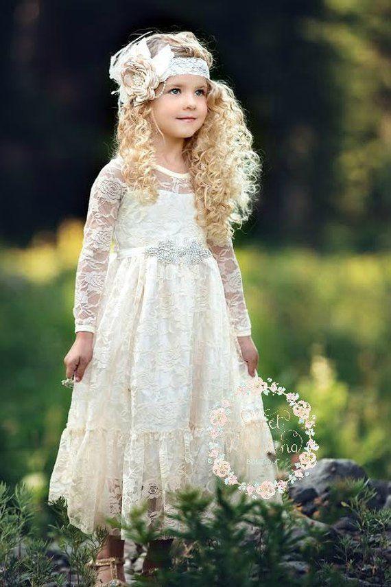 GIRL IN sassy FLOWER GIRL outift DRESS & HEADBAND