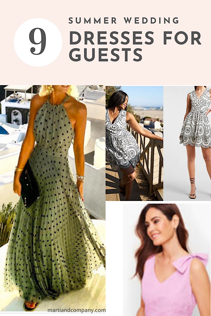 Pin for blog post Summer Wedding Dresses for Guests