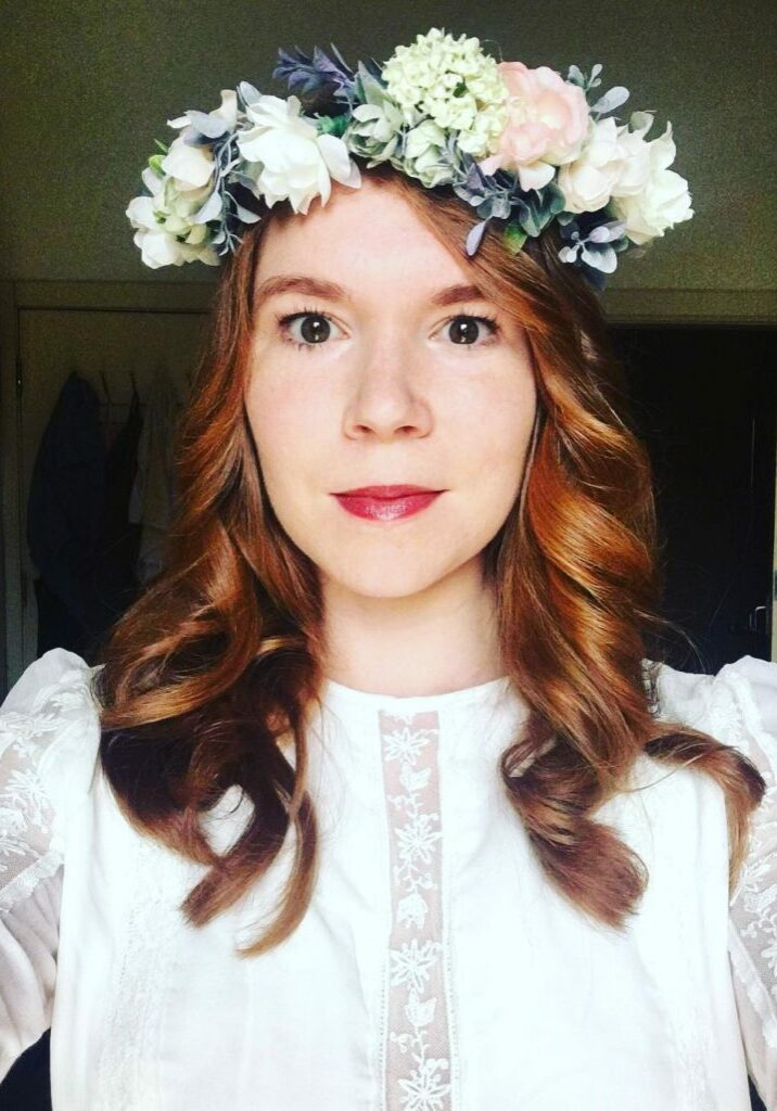 Kelli in Custom Floral Crown